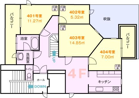 浅草間取り図4階