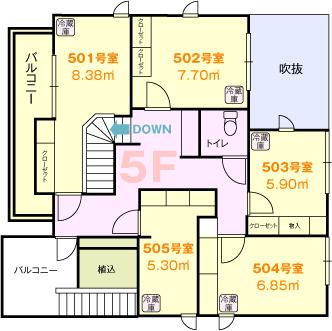 浅草間取り図5階